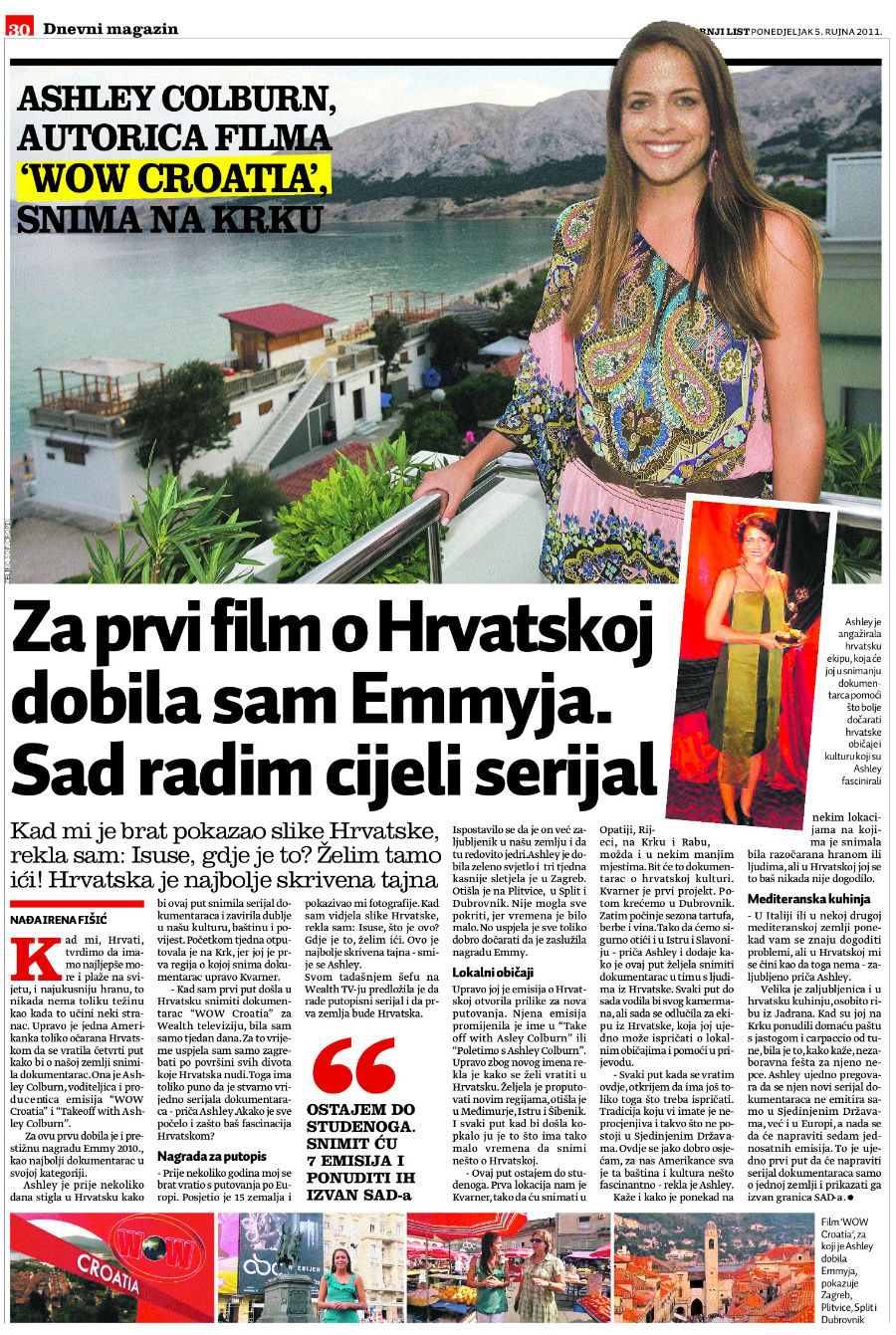 Ashley in Dnevni Magazin
